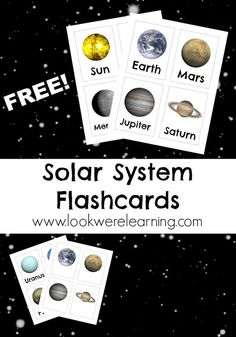 Solar System Flashcards from Look, We're Learning!