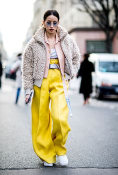 The sun came out a little on day two of Paris Fashion Week and shone the light on some seriously cool street styles. Take a look here...