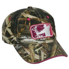 752aea14515 Ladies Major League Bowhunter Realtree Max 5 Pink Logo Hunting Hat. Ladies  Major League Bowhunter Realtree Max 5 With Pink logo. One Size Fits Most