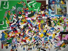 7+lbs LEGO Lot Bulk Brick, Minifigures, Specialty Pieces, Friends Parts/Pieces #LEGO