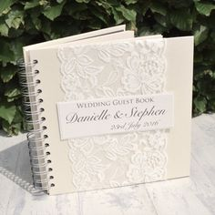 Handmade Lace Wedding Guest Book Vintage by ThePaperBirdCompany