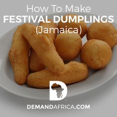 Festival Dumplings are sweet, fried comfort food. A street food traditionally eaten along with Jamaican Escovitch Fish or other jerk meats on the beach! Jimaca Recipes, Indian Food Recipes, Baking Recipes, Snack Recipes, Bread Recipes, Healthy Protein Snacks, Healthy Shakes, Healthy Breakfasts, High Protein
