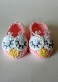 Crochet Baby Owl Slippers by ModernBabyCrochet on Etsy, $18.00