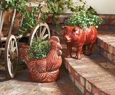 Rooster-Tail and Piggyback Planters