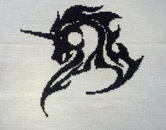Auburn tiger logo cross stitch pattern by gotttwo on etsy 340 unicorn cross stitch pattern by theblackdogdesigns on etsy fandeluxe Gallery