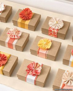 brown paper wrapping - all flowers  Older And Wisor: Kraft Krush Day 3: Everything's Coming Up Roses
