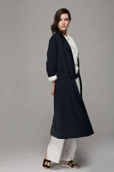 Duster coat with belt - FrontRowShop
