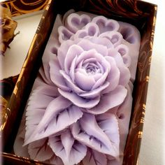 Purple fragile soap carving rose .