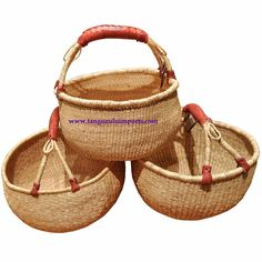 Great for all my weaving supplies! Large Market Bolga Basket Natural - African Basket - Tango Zulu