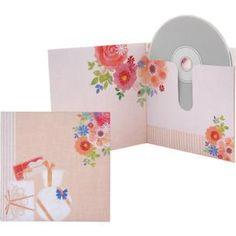 CD/DVD Case (Birthday),Home and Living,Paper Craft,flower,DVD,CD,pink,Anemone,orange,Birthday,easy,rose,present,Case