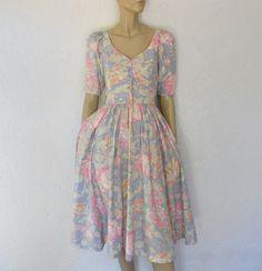 18aa162620b43 I  lt 3 this... Vintage Laura Ashley Dress 80 s Romantic Floral