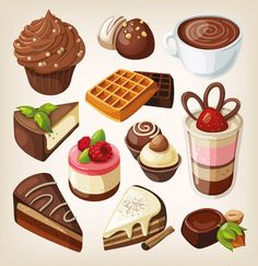 Vector chocolate sweets images