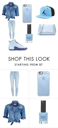"""""""Jordan 12 Hornets rTd!"""" by lifeissweet170000 ❤ liked on Polyvore featuring Paige Denim, Casetify, Soul Cal, Topshop and MICHAEL Michael Kors"""