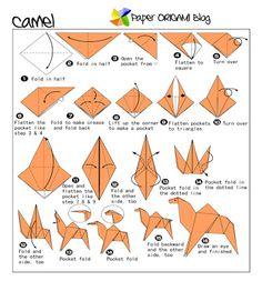 Camel Origami Folding Diagram