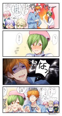 「A3! LOG」/「羽瀬 祷」の漫画 [pixiv] Bishounen, Anime Stuff, Cute, Couple, Gaming, Kawaii