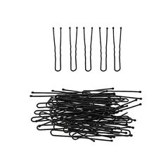 50Pcs/set Pro Hair U Clips 5cm Black Bobby Pins Curly Wavy Grips Hairstyle Barrette Hairpin Hair Hairdressing Styling DIY Tools #Affiliate