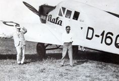 Bata Junkers D1608 airplane with Thomas Bata and his pilot Henry Brouček, ca 1930