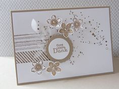 Thank you card - Thanks Card, Flower Stamp, Stamping Up Cards, Cute Cards, Homemade Cards, I Card, Making Ideas, Thank You Cards, Cardmaking