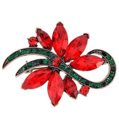 @Overstock - Goldtone Red and Green Crystal Christmas Star Cactus Brooch - This festive jewelry features a star cactus design adorned with crystals in shades of red and green. This brooch is made of antiqued goldtone base metal and attaches with a classic pin.  http://www.overstock.com/Jewelry-Watches/Goldtone-Red-and-Green-Crystal-Christmas-Star-Cactus-Brooch/7547591/product.html?CID=214117 $15.99