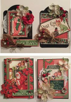 G45 / Children's Hour Card/Tag December Kit by Graphic 45 for Scrapbooks, Cards, & Crafting found at FotoBella.com