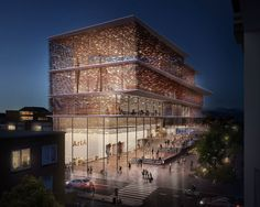 filigree clad arnhem ArtA cultural center by kengo kuma - designboom | architecture & design magazine
