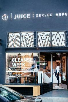 New exterior signage design retail shop fronts Ideas Smoothie Bar, Vejle, Commercial Interiors, Commercial Design, Organic Juice Bar, Raw Juice, Fruit Juice, Juice Bar Interior, Style Californien