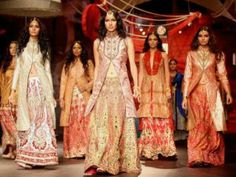 Aditi Rao and Esha Gupta in Indian Bridal Fashion Week Show
