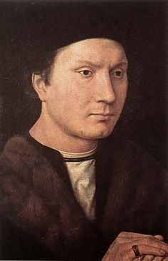 Hans Memling. Portrait of a Man  c. 1490  Oil on wood, 35 x 25 cm  Galleria degli Uffizi, Florence