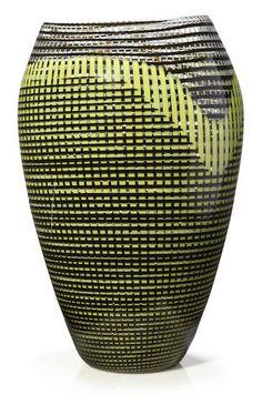 A Lino Tagliapietra for Effetre International glass vase 1986