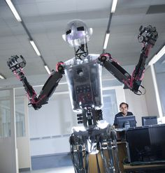 'RoboThespian', who lives at the Bristol Robotics Laboratory. He can quote Shakespeare, Darth Vader and the Terminator, among others. World Problems, Robotics, Research, Bristol, Evolution, Darth Vader, Technology, Shakespeare, Quote