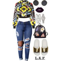 Untitled #130 by lorie-a1 on Polyvore featuring polyvore, fashion, style, Moschino, NIKE, WithChic, Rolex, Roberto Coin, RIPNDIP and Lime Crime