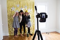 Make a DIY photo booth and props to capture all the best moments. 23 Badass Ideas For A Grown-Up Slumber Party Pajama Party Grown Up, Adult Slumber Party, Pj Party, Sleepover Party, Slumber Parties, Party Time, Girls Weekend, Girls Night, Ladies Night