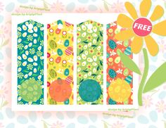 Free Easter printable bookmarks - long gift tags, reminders