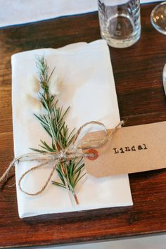 Rustic-green place setting: http://www.stylemepretty.com/australia-weddings/2014/06/10/laid-back-rustic-barn-wedding/ | Photography: Louisa Bailey - http://www.louisabailey.com/