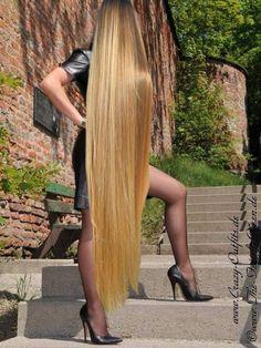 Beautiful Long Hair, Gorgeous Hair, Very Long Hair, Silky Hair, Shoulder Length Hair, Dream Hair, Down Hairstyles, Hair Lengths, Blonde Hair