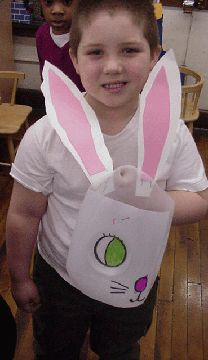 Another recycled milk jug Easter basket...