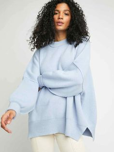 Free People Easy Street Tunic Tunic Sweater, Long Sleeve Sweater, Pullover Sweaters, Free People Clothing, Clothes For Women, Image Model, Ribbed Turtleneck, Color Block Sweater, Striped Knit
