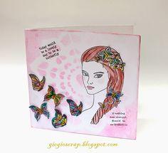 Scrap in Progress: Butterflies card