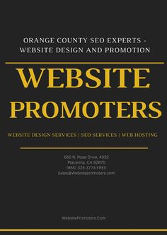 As a leading website design services provider in Orange County, http://websitepromoters.com/ has managed to carve a niche of their own in the industry.