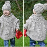 Knitting: Temptation Poncho and Hat Set