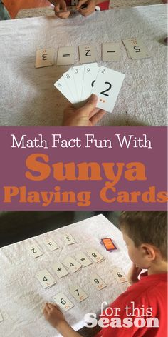 Math Fact Fun with Sunya Plaing Cards