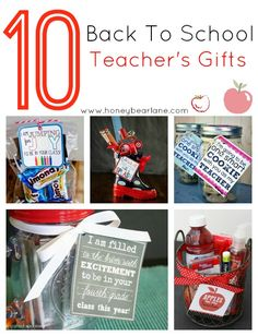 10 back to school teacher's gifts! Pin this to refer back to and start getting ready for the school year!