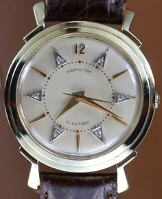 Vintage Watches Collection : Hamilton Titan Diamond Vintage Watch Circa 1958 from vintagewatches on Ruby Lane - Watches Topia - Watches: Best Lists, Trends & the Latest Styles Luxury Watches, Rolex Watches, Art Deco Watch, Skeleton Watches, High Jewelry, Modern Jewelry, Jewelry Necklaces, Mens Boots Fashion, Vintage Watches For Men
