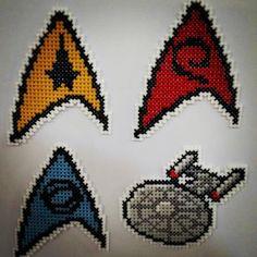 Imãs em ponto cruz Star Trek