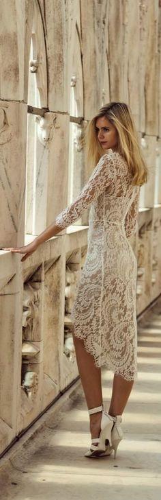 Lace dress .