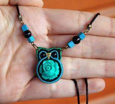 Miniature Owl Necklace Woodland animal totem by MyFantasies