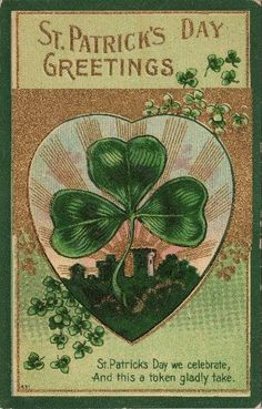 Vintage St patty's card