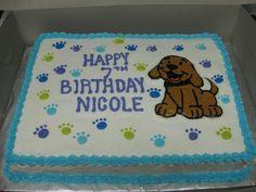 Banana Birthday Cake For Dogs ~ Cute puppy sheet cake design sheet cake ideas for work