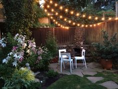 With just some twinkle lights and a comfy spot to sit, you can create your very own backyard paradise.