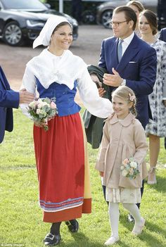 Family day: She was again accompanied by daughter Estelle and husband Daniel